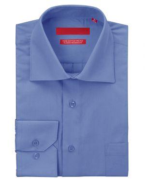 Mens GV Executive Dress Shirt Pure Cotton Spread Collar Barrel Cuff Blue by DTI DARYA TRADING