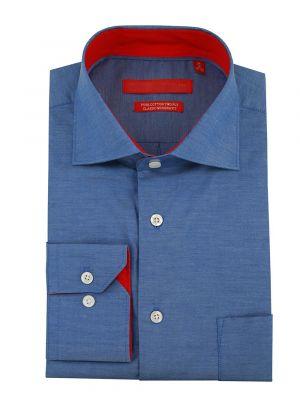 Mens GV Executive 100% Cotton Barrel Cuff Dress Shirt Blue by DTI DARYA TRADING