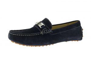 Navy Slip-on Loafer Drefinno Comfort Leather Driving Shoe