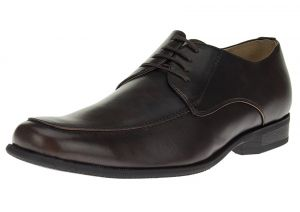 Brown Lace-up Business Faux Leather Dress Shoes TR693-3