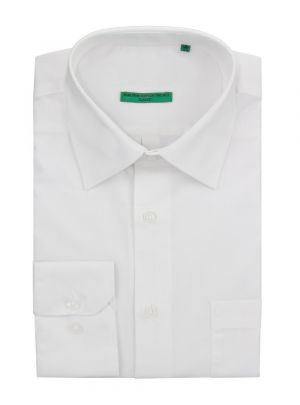 Mens BB Signature Modern Classic Fit 2 Ply Pure Cotton Solid Dress Shirt White by DTI DARYA TRADING
