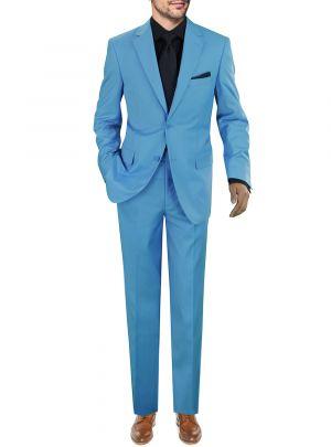 's Modern Fit Presidential Two Button Sky Blue by Giorgio Napoli